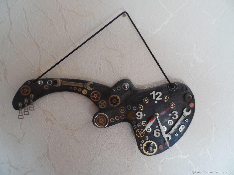 Часы-гитара в стиле стим-панк Работы Анны Букаловой Дерево
