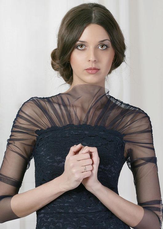 """Платья ручной работы. Ярмарка Мастеров - ручная работа. Купить Платье """"4"""". Handmade. Тёмно-синий, платье вечернее, сетка"""