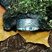 Кольца ручной работы. Ярмарка Мастеров - ручная работа Кольцо Колибри, серебро. Гравировка/ Hummingbird silver ring. Handmade.