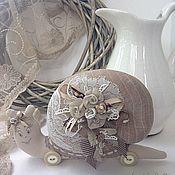 Куклы и игрушки ручной работы. Ярмарка Мастеров - ручная работа Улитка льняная Бохо. Handmade.