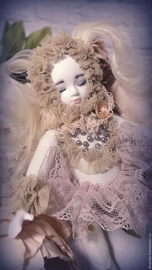 Мишки Тедди ручной работы. Ярмарка Мастеров - ручная работа. Купить Ангел в объятиях Морфея. Handmade. Бежевый, кукла авторская