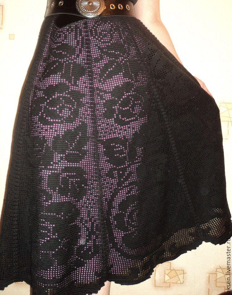 Филейное вязание юбка крючком 84