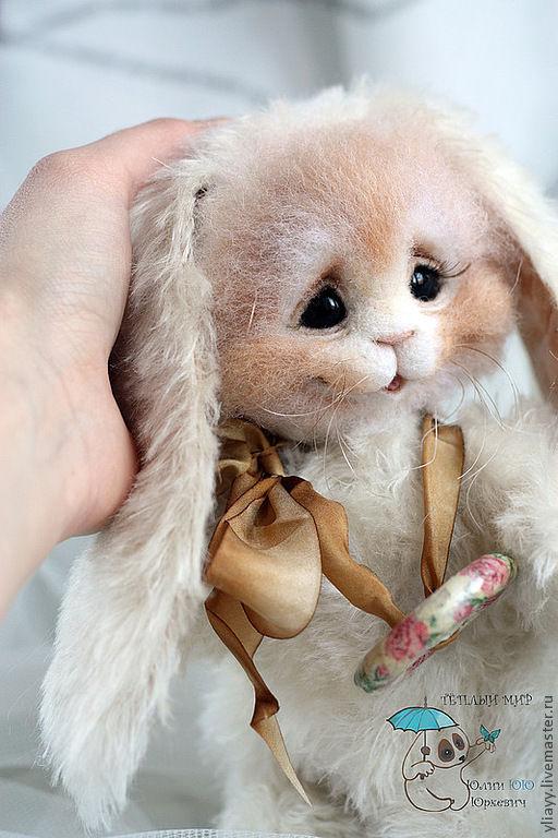Куклы и игрушки ручной работы. Ярмарка Мастеров - ручная работа. Купить Зайчик Бафи. Handmade. Белый, друзья тедди