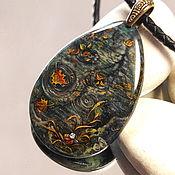 Украшения handmade. Livemaster - original item Autumn mirrors – women`s decoration on the neck – lacquer miniature. Handmade.