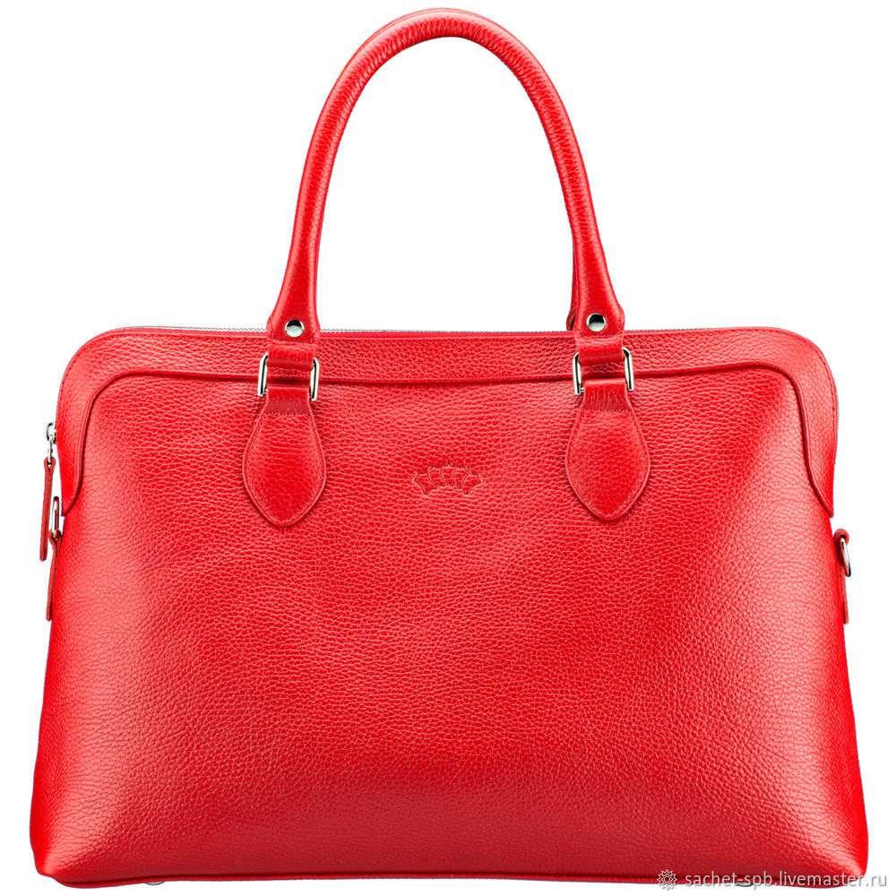 Womens leather bag 'Aurora' (red), Classic Bag, St. Petersburg,  Фото №1