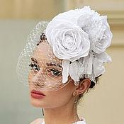 Свадебный салон ручной работы. Ярмарка Мастеров - ручная работа Свадебная шляпка ободок. Handmade.