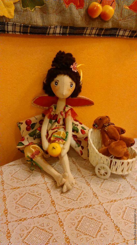 Коллекционные куклы ручной работы. Ярмарка Мастеров - ручная работа. Купить Глашенька. Handmade. Ярко-красный, подарок на любой случай