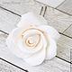 Заколки ручной работы. Заказать Шпильки с розами (средние) Белые. Tanya Flower. Ярмарка Мастеров. Украшение в прическу, цветы для прически