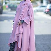 Одежда handmade. Livemaster - original item Cashmere coat, Long, Asymmetrical coat, Pink coat. Handmade.