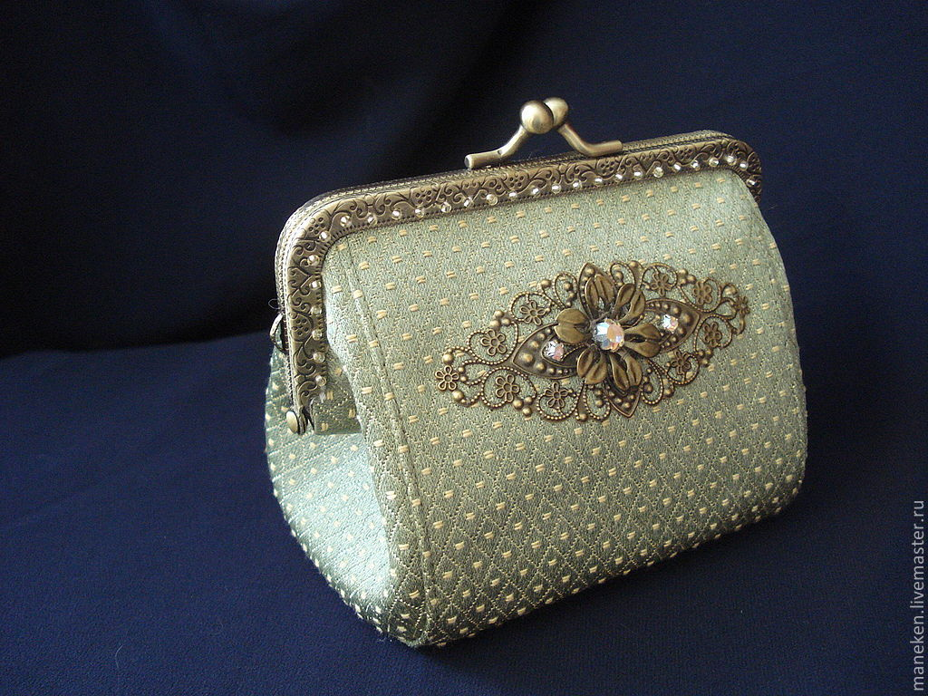 Wallets & Business Card Holders handmade. Livemaster - handmade. Buy Wallet-cosmetic bag with clasp ' Journey Adele    '.