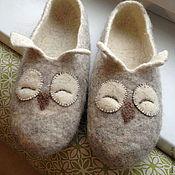 Обувь ручной работы. Ярмарка Мастеров - ручная работа Совушки сонные. Handmade.