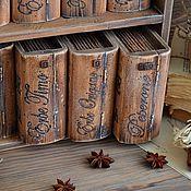 Для дома и интерьера ручной работы. Ярмарка Мастеров - ручная работа Библиотека гурмана - набор для специй. Handmade.