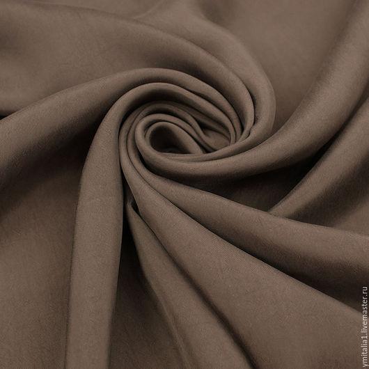 Шитье ручной работы. Ярмарка Мастеров - ручная работа. Купить Купро плательно-костюмная MARINA RINALDI серо-коричневая. Handmade.