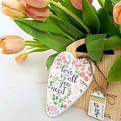 Для дома и интерьера ручной работы. Ярмарка Мастеров - ручная работа Интерьерные подвески - сердечки. Handmade.