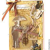 """Открытки ручной работы. Ярмарка Мастеров - ручная работа Открытка мужская """"С Днем Рождения!"""". Handmade."""
