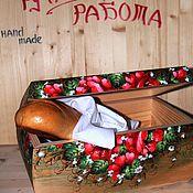 Русский стиль ручной работы. Ярмарка Мастеров - ручная работа Хлебница (маки). Handmade.