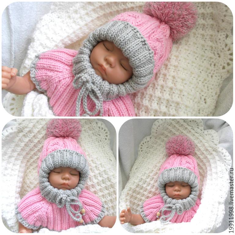 схема шапка детей зимняя вязания для