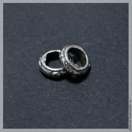 Для украшений ручной работы. Ярмарка Мастеров - ручная работа. Купить Разделитель кольцо бухта серебро 925 пробы с чернением. Handmade.