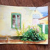 Картины и панно ручной работы. Ярмарка Мастеров - ручная работа Куст герани.... Handmade.