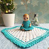 Одежда для кукол ручной работы. Ярмарка Мастеров - ручная работа Плед и платье для малышки Барби. Handmade.