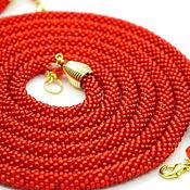 Украшения handmade. Livemaster - original item Lariat red Fire long strap beaded. Handmade.