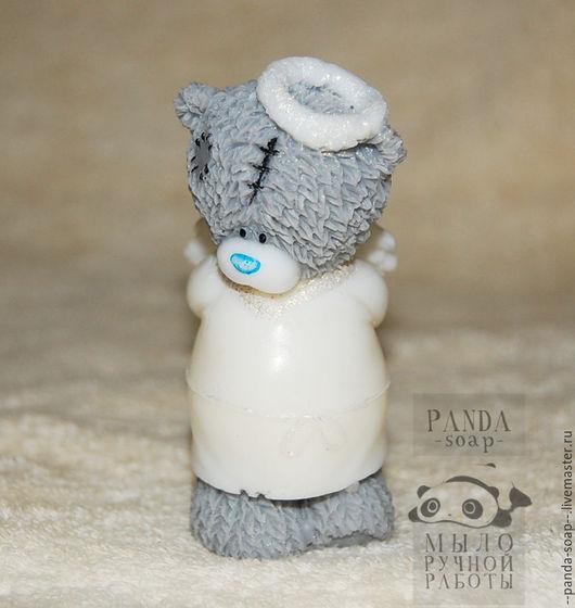 """Мыло ручной работы. Ярмарка Мастеров - ручная работа. Купить Мыло """"Мишка Тедди Ангелок"""". Handmade. Белый, Новый Год"""
