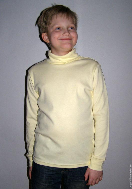 Одежда унисекс ручной работы. Ярмарка Мастеров - ручная работа. Купить Водолазка детская ваниль. Handmade. Желтый, водолазка, детская