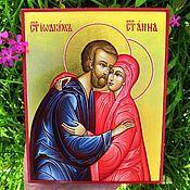 Картины и панно handmade. Livemaster - original item Saints Joachim and Anna .. Handmade.