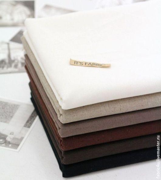 Шитье ручной работы. Ярмарка Мастеров - ручная работа. Купить Однотонный лен, 6 оттенков. Handmade. Белый, однотонный лён