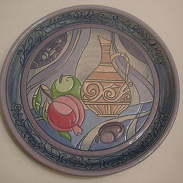 """Посуда ручной работы. Ярмарка Мастеров - ручная работа Блюда """"Дуновение востока """".Керамика. Handmade."""