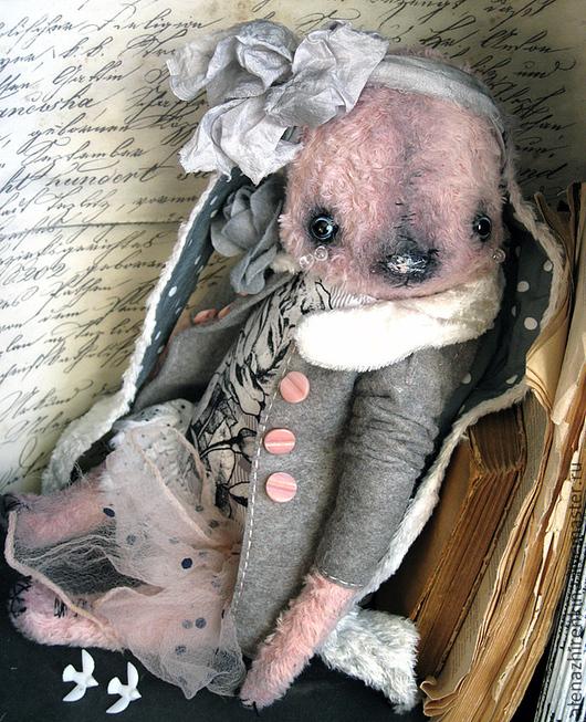 Мишки Тедди ручной работы. Ярмарка Мастеров - ручная работа. Купить ПЕПЕЛ РОЗЫ. Handmade. Бледно-розовый, кролик