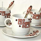 Посуда ручной работы. Ярмарка Мастеров - ручная работа Кофейный сервиз. Handmade.