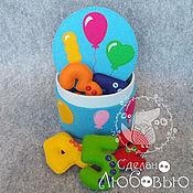 Куклы и игрушки handmade. Livemaster - original item Figures made of felt in blue box
