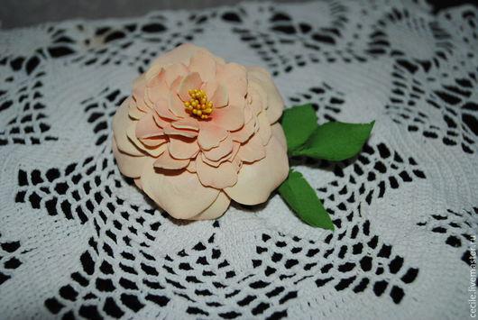 заколка автомат роза Cecile Brunner (можно сделать в виде броши) Акция только 3 дня заколка по спец цене!!!