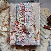 """Канцелярские товары ручной работы. Ярмарка Мастеров - ручная работа Блокнот """"Нежность бохо"""". Handmade."""