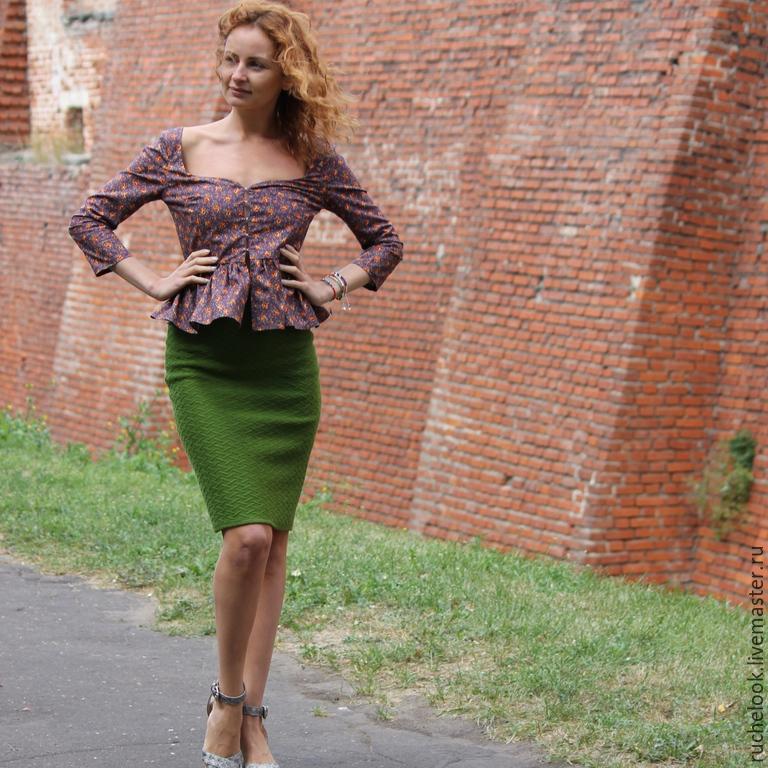Теплая трикотажная юбка купить