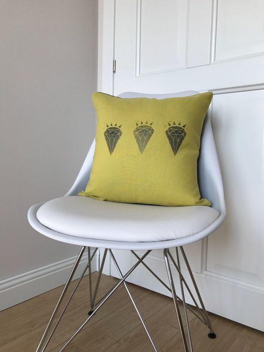 Текстиль, ковры ручной работы. Ярмарка Мастеров - ручная работа. Купить Лимонные грезы - чехол для декоративной подушки. Handmade. Лимонный