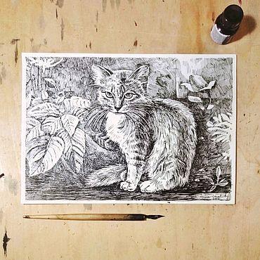 """Картины и панно ручной работы. Ярмарка Мастеров - ручная работа Картина """"Среди растений"""". Handmade."""