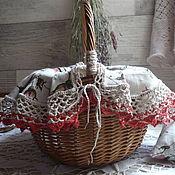 Для дома и интерьера ручной работы. Ярмарка Мастеров - ручная работа Корзинка из лозы ,,Чай в беседке,,. Handmade.