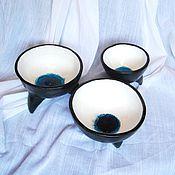 """Посуда ручной работы. Ярмарка Мастеров - ручная работа Пиалы """"Норвежские фьорды"""", набор. Handmade."""