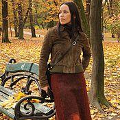Одежда handmade. Livemaster - original item Knit-felted skirt