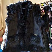 Одежда handmade. Livemaster - original item Vests with Tuscan lambskin. Handmade.