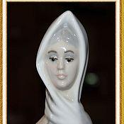"Винтаж handmade. Livemaster - original item Красивая, большая фарфоровая статуэтка ""Дама с собакой"" Tengra, Испан. Handmade."