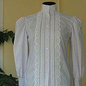 Одежда handmade. Livemaster - original item blouse made of cotton, victorian style. Handmade.