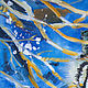 Животные ручной работы. Заказать Амурский тигр. Алёна Ручка (alru). Ярмарка Мастеров. Синий, лед, холст на картоне