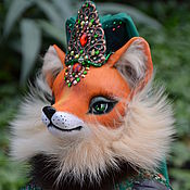 Куклы и игрушки handmade. Livemaster - original item Fox Sutela -the owner of emerald mountain. Handmade.
