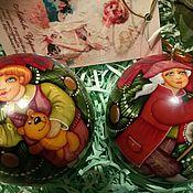 """Подарки к праздникам ручной работы. Ярмарка Мастеров - ручная работа Шарики на елку """"Детские игрушки""""-2. Handmade."""