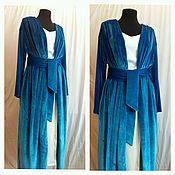 Одежда handmade. Livemaster - original item Cardigan-coat in velvet for lining. Handmade.