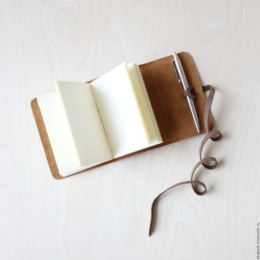 Блокноты ручной работы. Ярмарка Мастеров - ручная работа. Купить Скетчбук-мини в рыжем кожаном переплёте. Handmade. Рыжий