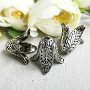 Материалы для творчества handmade. Livemaster - original item End cap beads 24x17 mm color antique silver(art. 2754). Handmade.